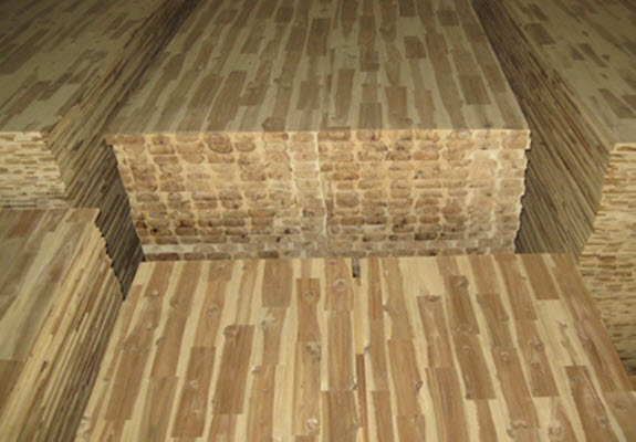 Acacia wood prefabricated panels