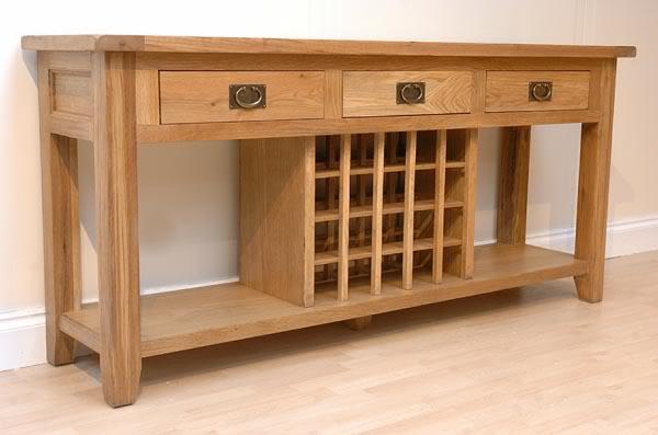 Fine oak cabinets